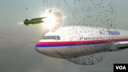 MH17航班墜毀的原因是彈頭在駕駛艙左側外面爆炸。