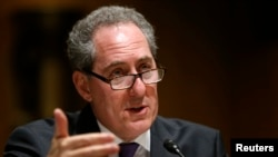 FILE - U.S. Trade Representative Michael Froman, shown testifying before Congress this year, notes that exports are crucial to the U.S. economy because 95 percent of global customers are outside the United States.
