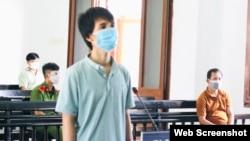 Ông Ngô Công Trứ tại tòa ngày 25/8/2021. Photo Zingnews.vn