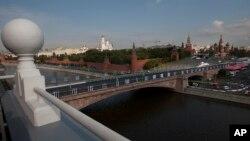 نمایی از کاخ کرملین در مسکو، پایتخت روسیه