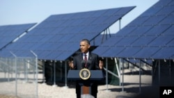 Tổng thống Obama nói về năng lượng sạch tại Căn cứ Không quân Hill ở Utah, ngày 3/4/2015.