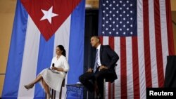Tổng thống Mỹ Barack Obama gặp gỡ các doanh nghiệp tại Havana trong chuyến viếng thăm ba ngày tới Cuba, ngày 21 tháng 03 năm 2016.