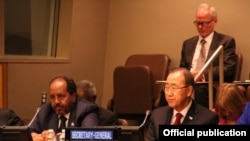 Xasan Sheekh iyo Ban Ki Moon