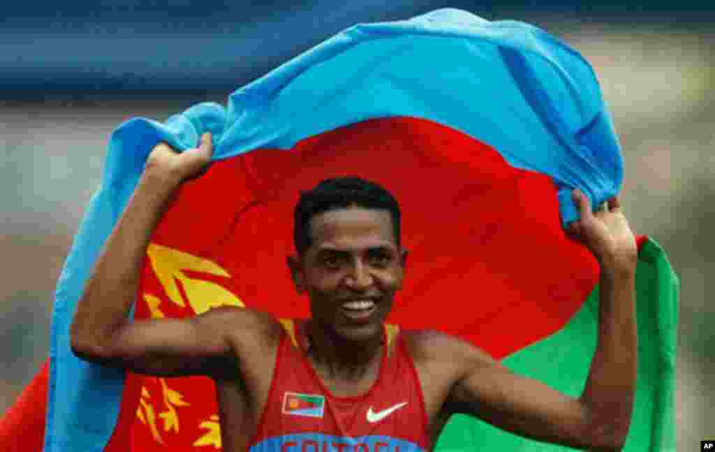 IN THE RUNNING Zersenay Tadesse of Eritrea won the Association for International Marathons and Distance Races Citizen World's Fastest Time Award last week in Nanning, Gaunqxi province, China. Zersenay and Meseret Defar of Ethiopia are leading contenders i