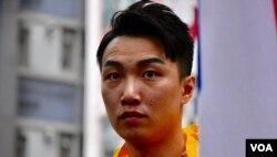 香港民間人權陣線召集人岑子杰。(美國之音湯惠芸攝)