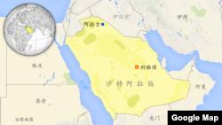 沙特阿拉伯及其周边国家地图 (谷歌地图 )