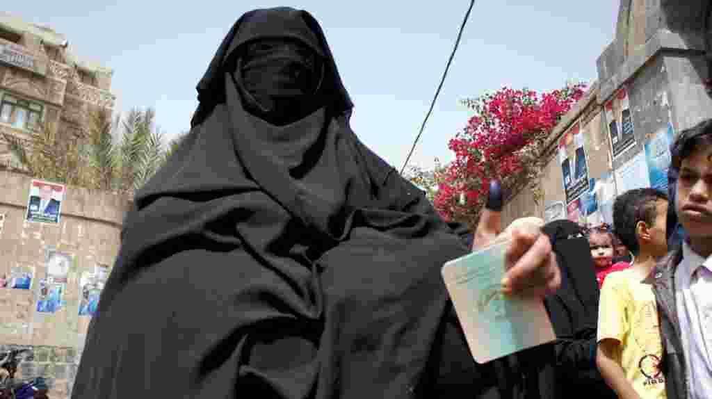 En Yemen, las mujeres se presentaron en vigor para la elección que terminó con el régimen del presidente Ali Abdullah Saleh.