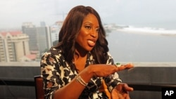 """FILE - """"Mosunmola """"Mo"""" Abudu , chief executive officer of EbonyLife TV."""