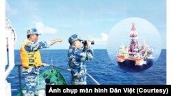 Cảnh sát biển Việt Nam tuần tra, bảo vệ chủ quyền lãnh hải trên Biển Đông. (Ảnh Cảnh sát biển Việt Nam chụp từ màn hình Dân Việt)