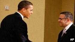 O Πρόεδρος Ομπάμα με τον Πρόεδρο του Ελ Σάλβαντορ, Μαουρίσιο Φούνες