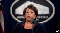 Jaksa Agung AS Loretta Lynch mendorong warga untuk melaporkan kejahatan kebencian atau hate crime (foto: dok).