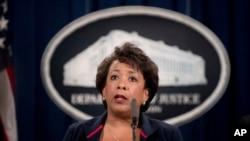 FILE - Attorney General Loretta Lynch.