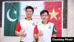 چینی کرکٹرز جیان لی اور یوفی زانگ