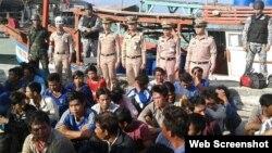 Tất cả tàu thuyền và ngư dân Việt đã được đưa tới một căn cứ hải quân hôm nay rồi sau đó được trao cho cảnh sát để đối mặt với các hành động pháp lý.