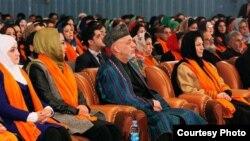 حامد کرزی، رئیس جمهور افغانستان در محفل بزرگداشت از روز زن در کابل