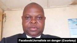 Mopanzi sango Sosthène Kambindi akangamaki mpo na vidéo ya bobomi ya ba experts ya ONU na Kasaï, photo ebimisaki na Facebook na Jed (Jouranluste en danger), le 24 septembre 2021.