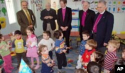 Jefferts Schori and her Episcopal Church delegation to the Holy Land visit the Evangelical Home and School in Ramallah.