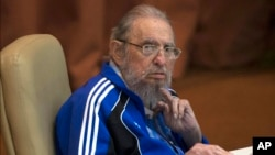 쿠바의 피델 카스트로 전 국가평의회 의장이 19일 제7차 공산당 전당대회에 참석했다.