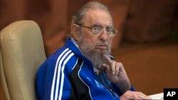 Fidel Kastro Kuba Kommunist partiyasining 7-syezdida qatnashmoqda, Gavana, 19-aprel, 2016-yil.