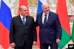 Belarus prezidenti Aleksandr Lukaşenko və Rusiyanın baş naziri Mixail Mişustin