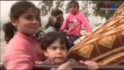 'TSK Afrin'e İlerlerken Siviller Bölgeyi Terkediyor'
