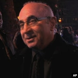 "Actor Bob Hoskins at the London premiere for ""A Christmas Carol"""