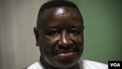 Le nouveau président sierra léonais, Julius Maada Bio, Freetown, le 7 mars 2018. (VOA/J. Patinkin)