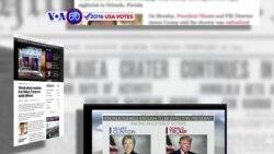 Manchetes Americanas 14 Junho: Reacções de Donald Trump e Hillary Clinton ao massacre em Orlando