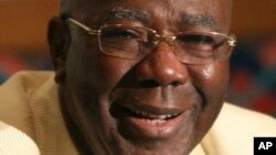FILE - Ahmad Tejan Kabbah, former Sierra Leone president.