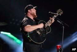 Artist Luke Combs performs at the 2018 CMA Music Festival at Nissan Stadium, June 8, 2018 in Nashville, Tennessee.
