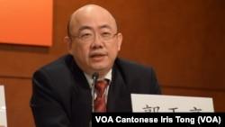美麗島電子報副董事長、台灣民進黨前立法委員郭正亮表示,中國要有政治上的新思維,面對中華民國的存在