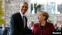 Tổng thống Mỹ Barack Obama và Thủ tướng Đức Angela Merkel.