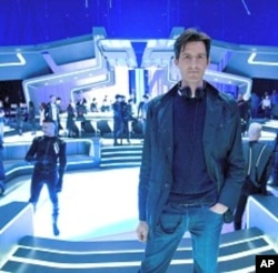 Joseph Kosinski on the set of TRON LEGACY