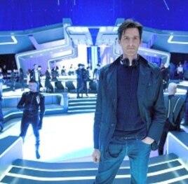 Joseph Kosinski on the set of TRON LEGACY
