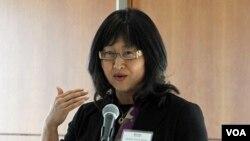 지난 27일 미국 워싱턴에서 열린 세계한민족여성네트워크 행사에 참석한 연아 마틴 캐나다 상원의원.