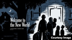 Writer Jake Halpern and cartoonist Michael Sloan created the comic strip series 'Welcome to the New World,' documenting the lives of a Syrian refugee family arriving in the U.S. (Image: Michael Sloan)
