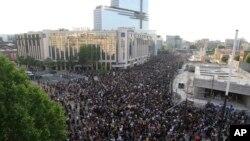 Fransa'nın başkenti Paris'teki gösteride binlerce kişi biraraya geldi.