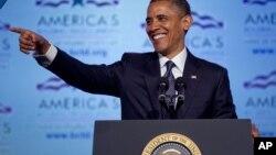 El presidente Barack Obama habla durante la conferencia legislativa de un sindicato de la construcción, en Washington.