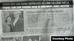Vận động của Janet Nguyễn trên báo Việt ngữ