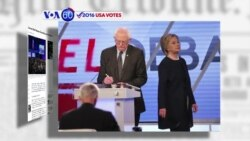 VOA60 Elections - Clinton, Sanders Trade Barbs on Immigration in Florida Debate