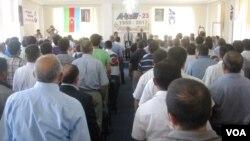 Azərbaycan Xalq Cəbhəsinin 23 illiyi münasibəti ilə təntənəli toplantı keçirilib