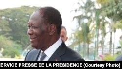 Le président de la Côte d'Ivoire Alassane Ouattara, 31 octobre 2016.