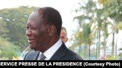 Alassane Ouattara, président de la Côte d'Ivoire, 31 octobre 2016.