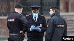 Полиция на улицах Москвы. Фото агентства Reuters.