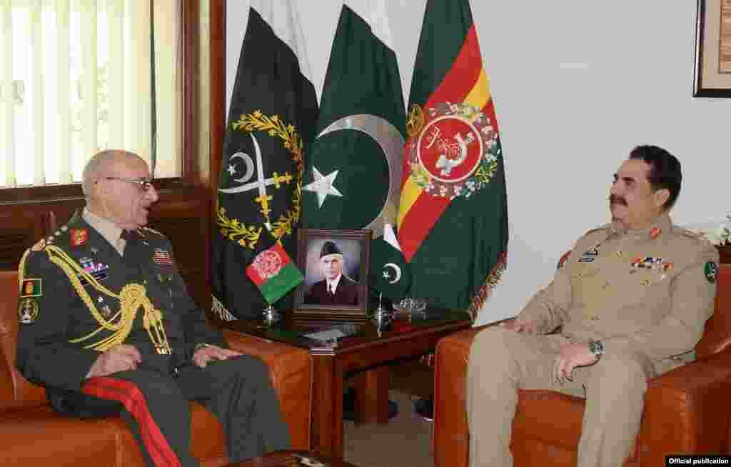 جنرل کریمی جمعہ کو دو روزہ دورے پر پاکستان پہنچے تھے اور جنرل راحیل شریف سے راولپنڈی میں فوج کے صدر دفتر میں ملاقات کی۔