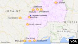 Zasyadko coal mine, Donetsk, Ukraine