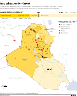 Where Iraq's wheat is under threat (Click to enlarge)