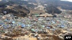 Các ngôi nhà bị phá hủy trên đảo Yeonpyeong, Nam Triều Tiên, 24/11/2010