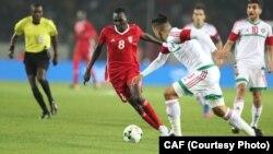 Lors du match entre le Maroc et le Soudan pour le CHAN 2018.