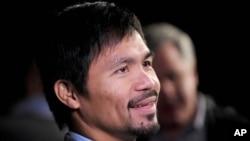 菲律宾拳击选手曼尼·帕奎奥在纽约出席记者会 (2016年1月21日)